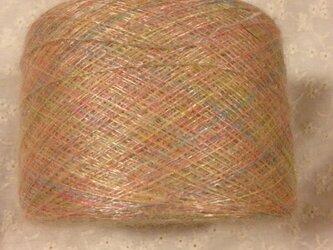 手染め糸⑥ 光沢のあるパステルモヘア系 110gの画像