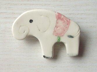 陶ブローチ-白象のももの画像