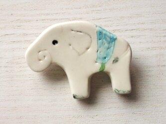 陶ブローチ-白象のあおの画像