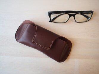 【選べる革とステッチ】メガネケース  眼鏡ケース  【名入れ可】の画像