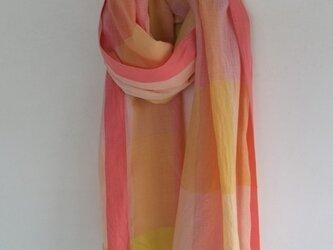 手紡ぎ手織りストール 13の画像