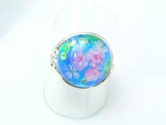 ガラスのリング 【花園 シルバー925】の画像