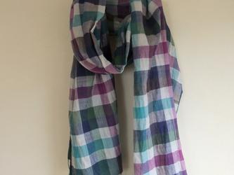 手紡ぎ 手織り ストール 16の画像
