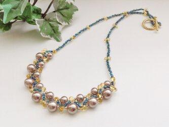 【送料無料】瑠璃色ネックレスの画像
