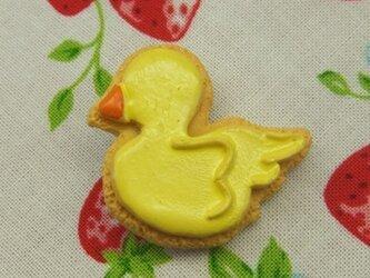 ひよこのアイシングクッキーブローチの画像