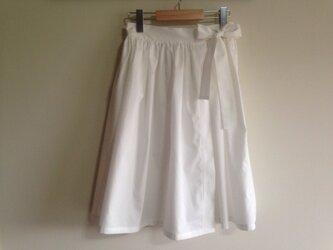 y様用 蝶々結びのギャザー巻きスカートの画像