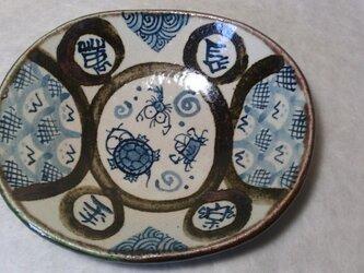 楕円鉢「長樂万年」の画像