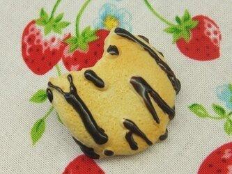 食べかけチョコビスケットブローチの画像