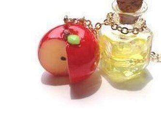 自家製アップルサイダー&蜜りんごのネックレスの画像