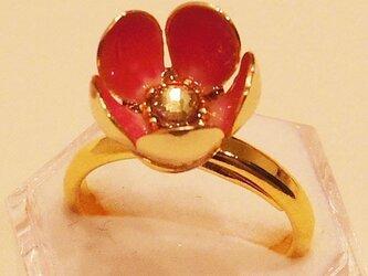 花畑の宝石指輪の画像