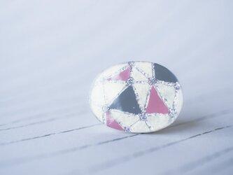 [再販]トライアングル(ピンク)/ブローチの画像