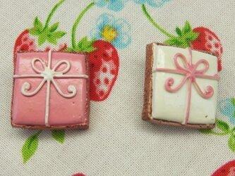 プレゼント型アイシングクッキーブローチセットの画像