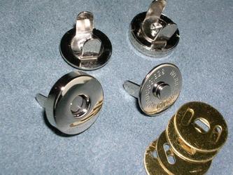マグネットボタン ニッケル(シルバー) 18mm 10個セットの画像