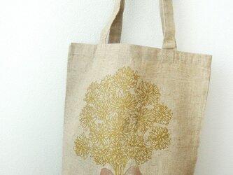 【再販】シロツメ草の花束リネンバックの画像