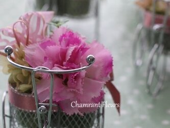 カーネションのプチギフト【ピンク】の画像