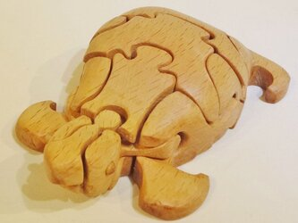 木の立体動物パズル「ani-woods」かめの画像
