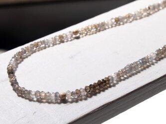 【ご予約品】ラブラドライトとクリスタルのネックレスの画像