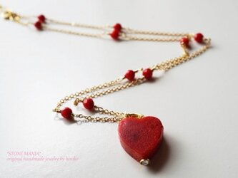 ♡heart red coral♡2way♡の画像