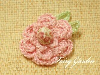 桜色のヘアゴムの画像