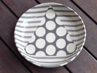 幾何柄ねり込み皿(三角水玉)の画像