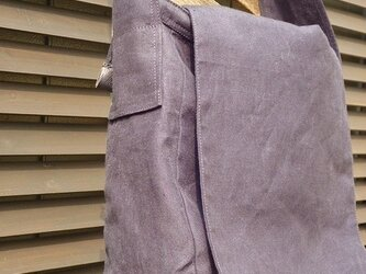 麻帆布のかばんの画像