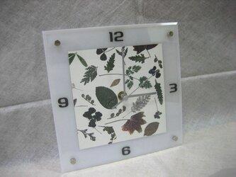 アクリル時計(ランダム葉)の画像