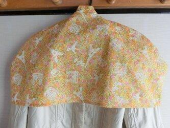 洋服カバー 黄色フランス風プリント 普通サイズの画像