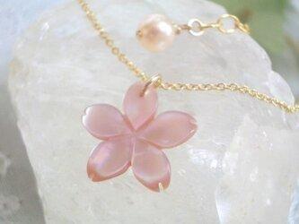 【14Kgf】桜ネックレス ピンクの画像