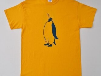 ペンギンTシャツ、penguin, 半袖シャツ、黄色の画像
