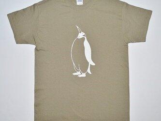 ペンギンTシャツ、penguin, 半袖シャツ、オリーブの画像