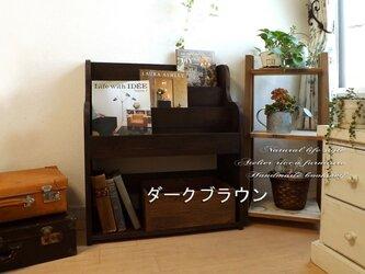 無垢材の絵本棚br/wh選べる2color*wide60の画像