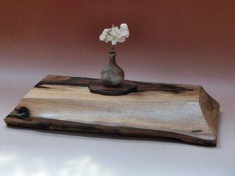 一点もの 黒柿飾り台の画像