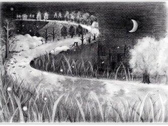 鉛筆画ポストカード(モノクロ2種)の画像