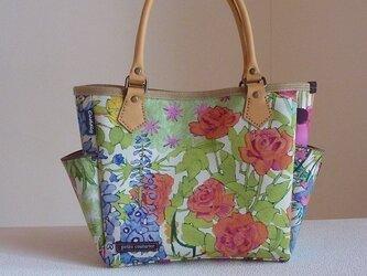 サイドポケットバッグS(リバティ:バラ)の画像