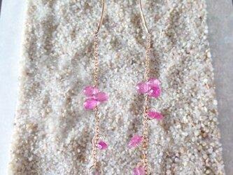 ゴールドピアス Weeping Cherry Earringsの画像