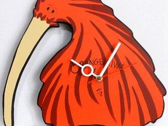 オレンジキーウィ  クロックの画像