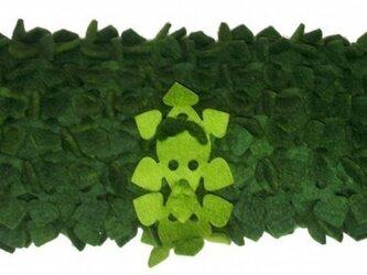 葉っぱブロックブックカバーの画像