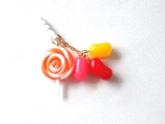 キャンディイヤホンジャック・スマホピアス オレンジの画像