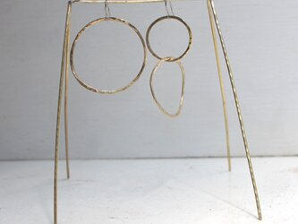 真鍮ピアス ピタゴラスの画像