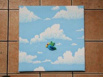ファブリックボード(青空×けろ)の画像