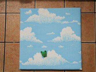 ファブリックボード(青空×けろかくれんぼ)の画像