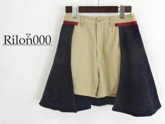 ≪リメイク1点物≫フレアスカート付きショートパンツ:M Sizeの画像