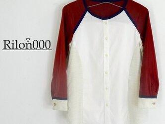 ≪リメイク1点物≫異素材MIXシャツ:M Sizeの画像