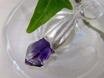 『花の誇り』カレンデュラの萼*アメシストファントムペンダントの画像