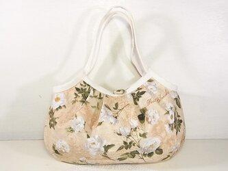 小さめグラニーバッグ「White Rose(ベージュ)」の画像
