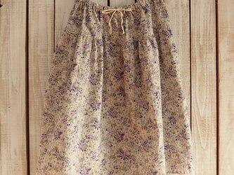 2段ティアードスカート(No.05/紫小花)の画像