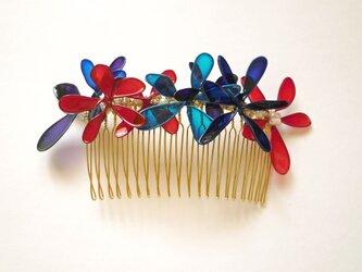 髪飾り*blooming flower color コーム Lの画像