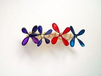 髪飾り*blooming flower color バレッタ Sの画像