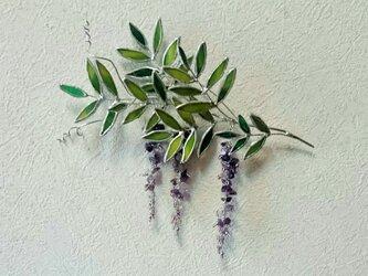 藤の壁飾りの画像