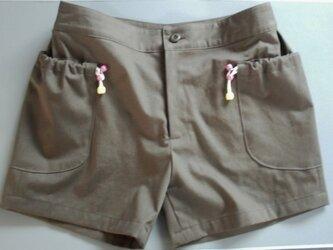 巾着ポッケのショ-トパンツの画像